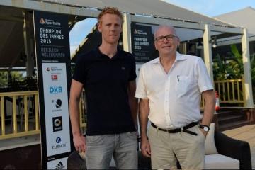 Mit Olympiasieger Jonas Reckermann beim Talk in der Türkei