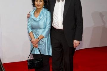 Beim Ball des Sports 2015, mit Ehefrau Ferdos Forudastan