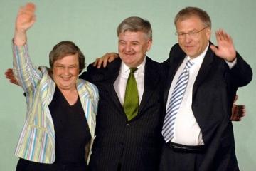Bärbel Höhn, Joschka Fischer und Michael Vesper