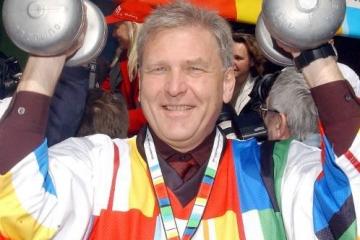In Düsseldorf beim Aktionstag der Olympiabewerbung 2002