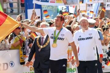 Empfang für Deutsche Olympiamannschaft in Frankfurt 2016